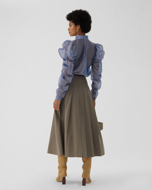 Malia Skirt Wool Blend Suiting Grey