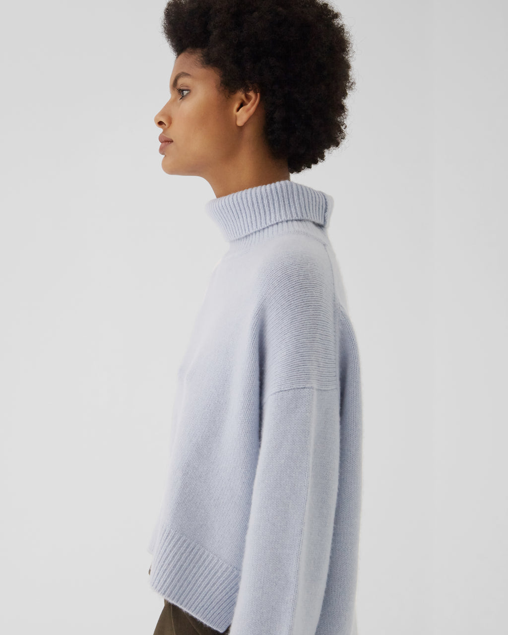 Lyn Sweater Regenerated Cashmere Blue