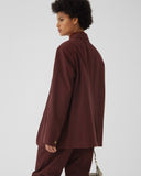 Spencer Jacket Cotton Canvas Burgundy - UNISEX