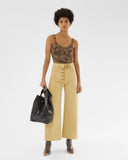 Emily Jeans Cotton Cotton Canvas Beige