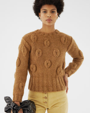 Mira Sweater Wool Coffee Brown