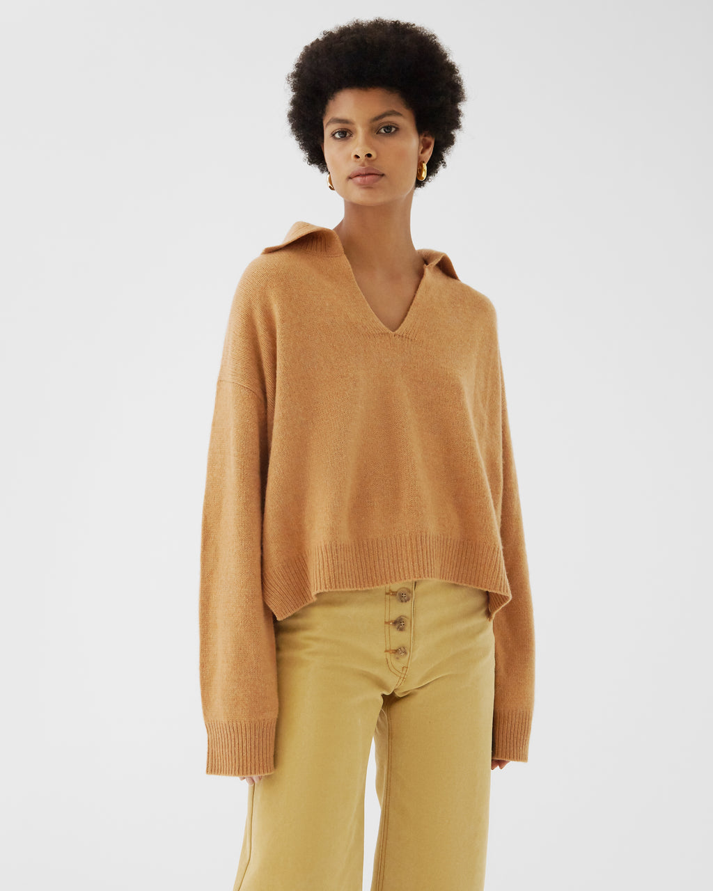 Tate Sweater Regenerated Cashmere Orange Melange