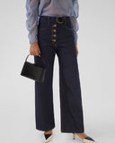 Emily Jeans Cotton Denim Dark Blue