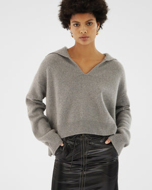 Tate Sweater Regenerated Cashmere Grey