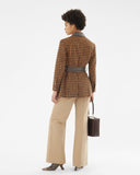 Felix Jacket Wool Blend Check Brown