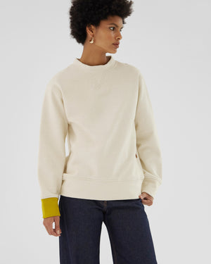 Drew Sweatshirt Organic French Terry Cotton Ivory