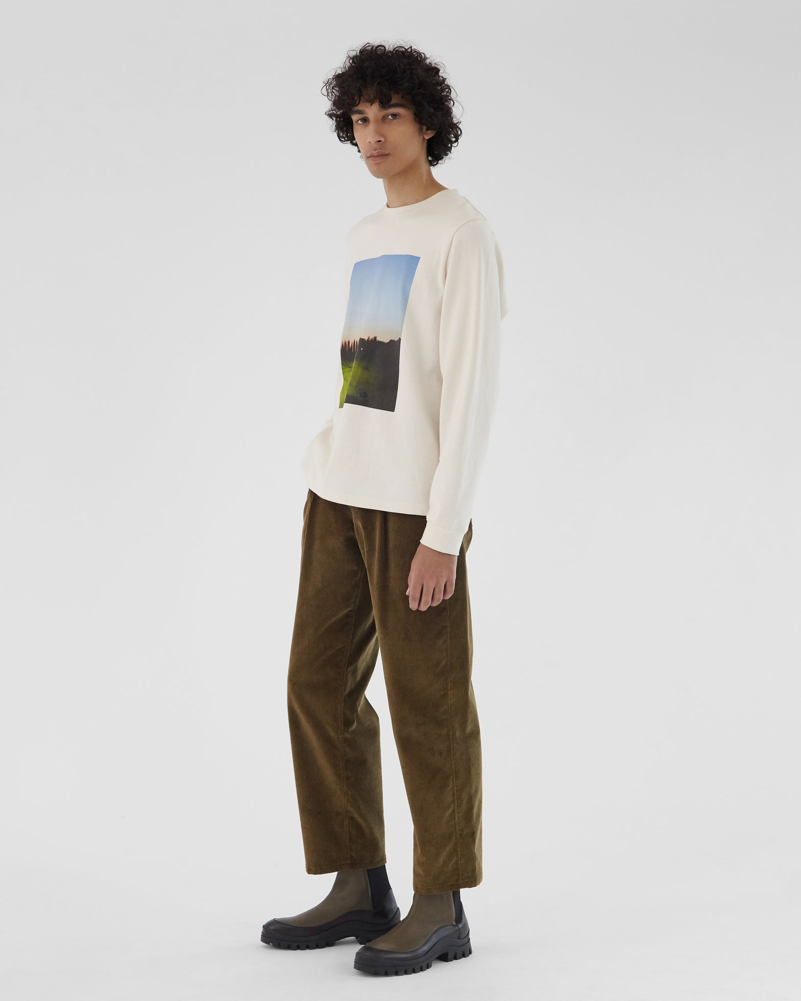 Frankie Trousers Cotton Corduory Khaki