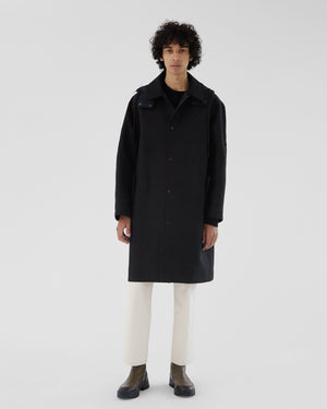Blake Coat Bonded Cotton Black