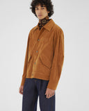 Tommy Jacket Cotton Velvet Tan - UNISEX