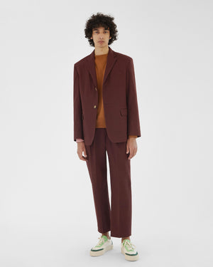 Mateo Trousers Cotton Canvas Burgundy