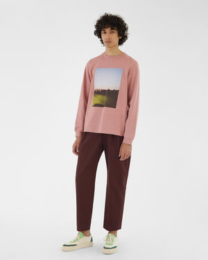 Kieran Top Organic Heavyweight Cotton Jersey Pink - UNISEX