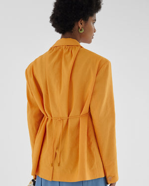Ashley Jacket Viscose Blend Orange