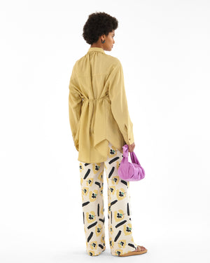 Andi Trousers Satin Twill Flower Print