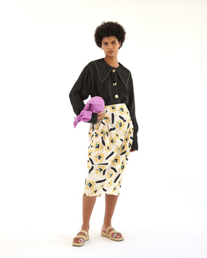 Karla Skirt Organic Cotton Flower Print