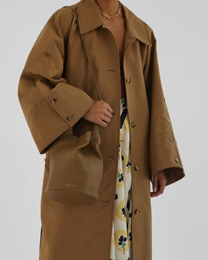 Hadley Trench Cotton Khaki