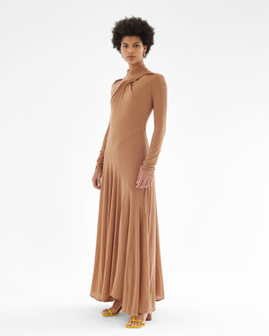 Maia Dress Tencel Jersey Brown