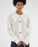 Elliot Shirt Cotton Broderie Anglaise White