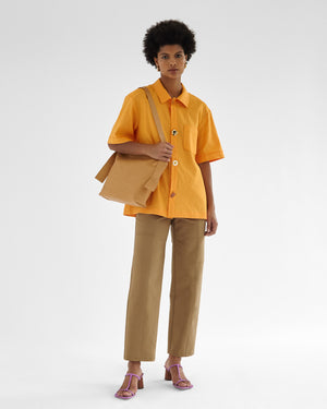 Marty Shirt Viscose Blend Orange
