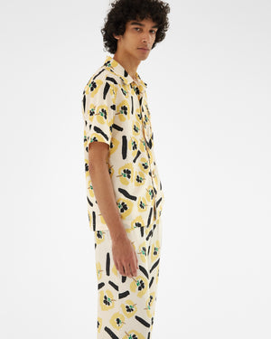 Marty Shirt Organic Cotton Flower Print
