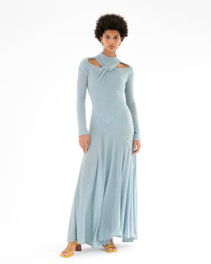Maia Dress Tencel Jersey Blue