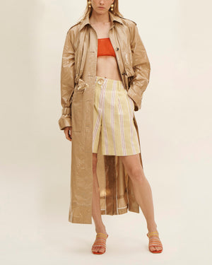 Renee Shorts Linen Stripe Yellow - SPECIAL PRICE