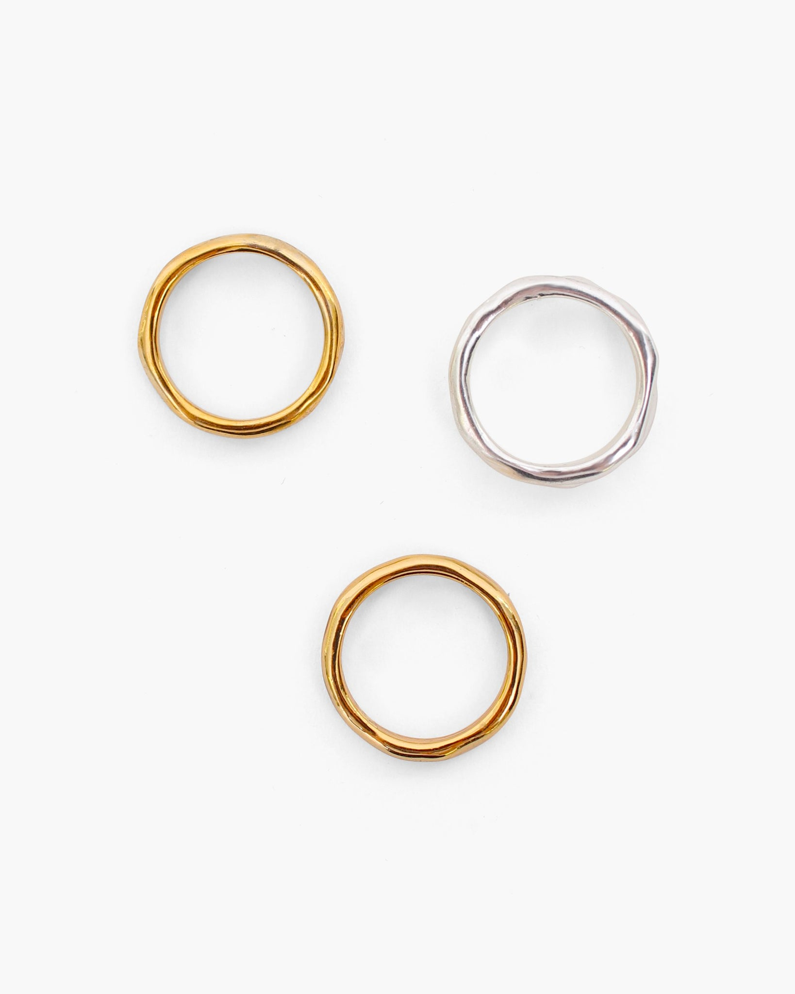 Sonia Trio Ring Gold + Silver Plated