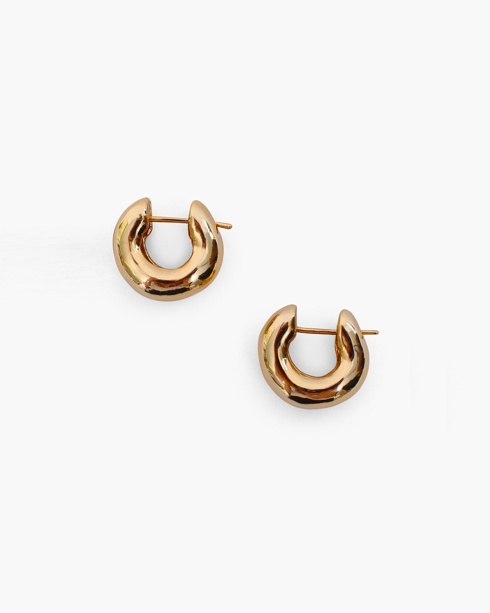 Rowan Hoops Small Gold Plated 18k