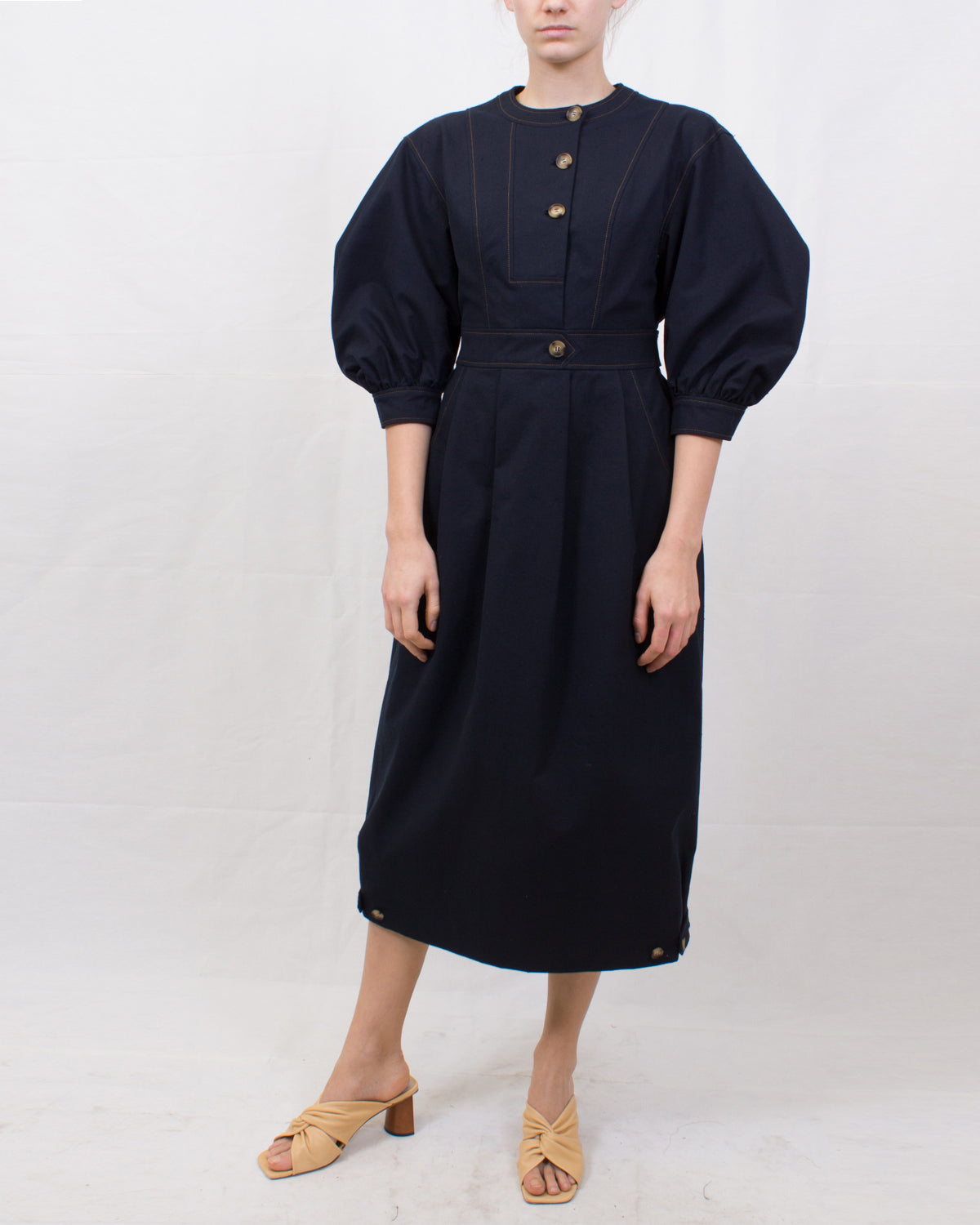 Rumi Dress Cotton Blend Black - SPECIAL PRICE
