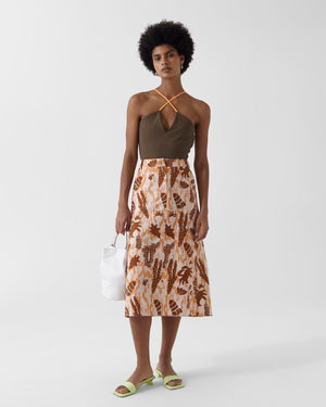 Eunice Skirt Organic Cotton Print Peach