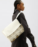 Riley Bag Leather White + Snake Multi