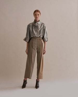 Riley Trousers Japanese Wool Oat Tone Mix - SPECIAL PRICE