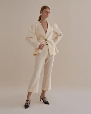 Maeve Trousers Japanese Wool Ivory
