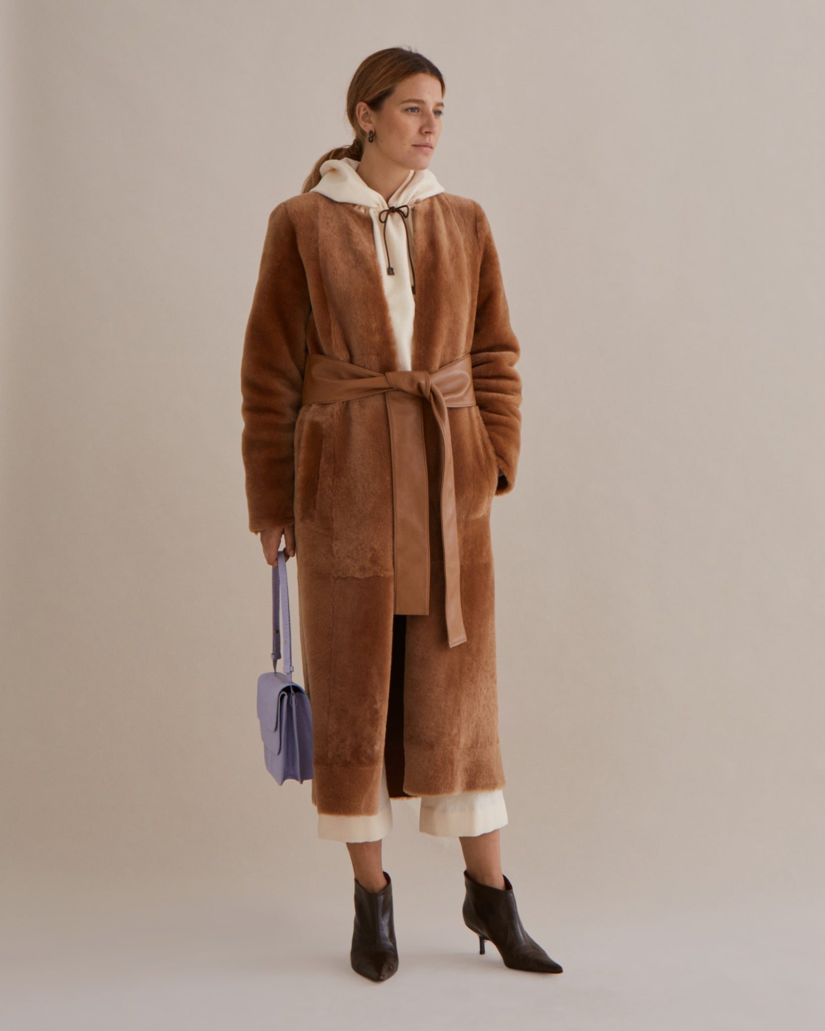 Claire Coat Shearling Brown