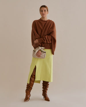 Colette Sweater Mohair Blend Brown