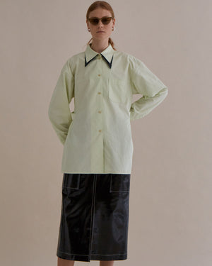 Rory Shirt Japanese Cotton Pistachio