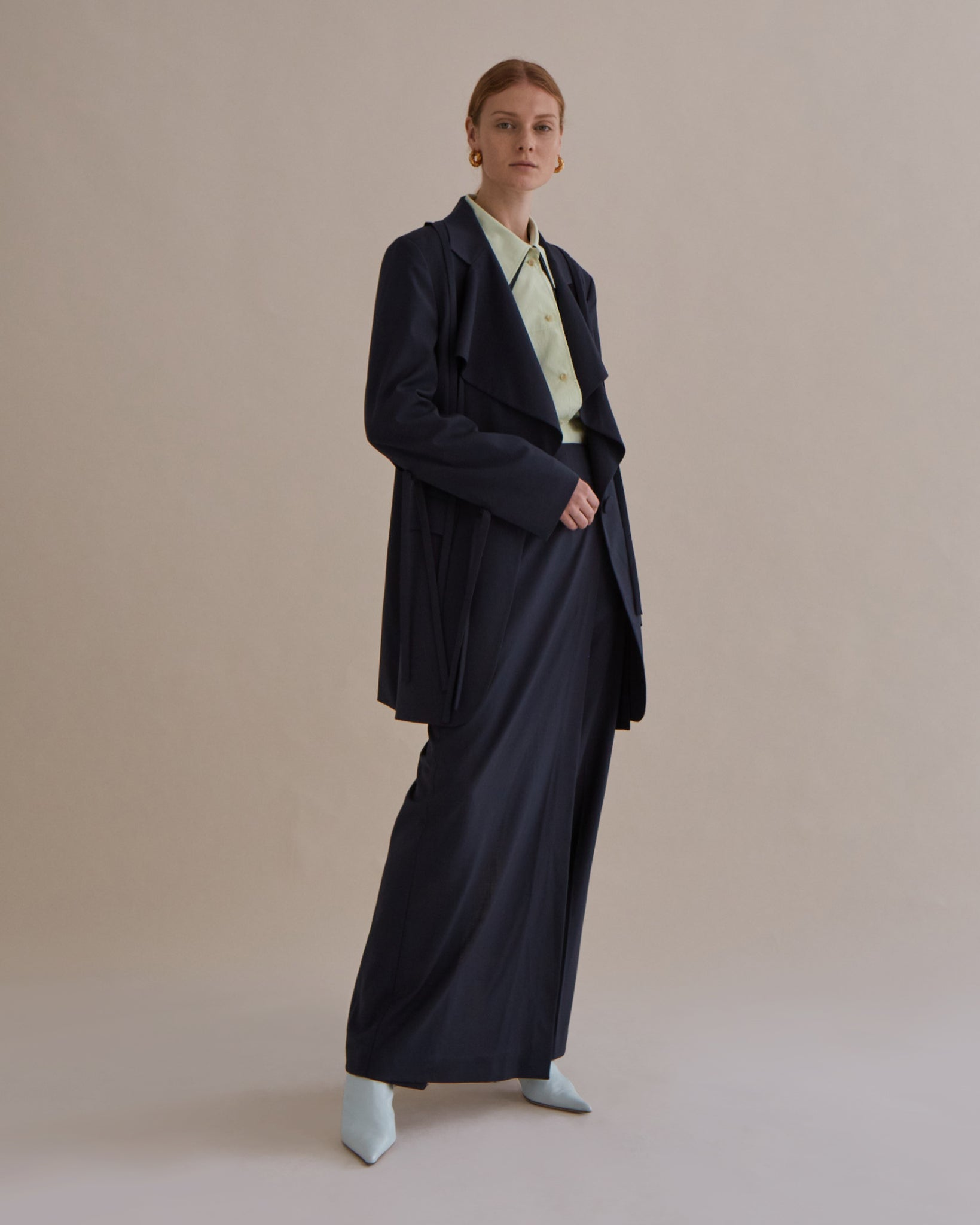 Gillian Trousers Wool Suiting Charcoal - SPECIAL PRICE