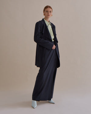 Gillian Trousers Wool Suiting Charcoal