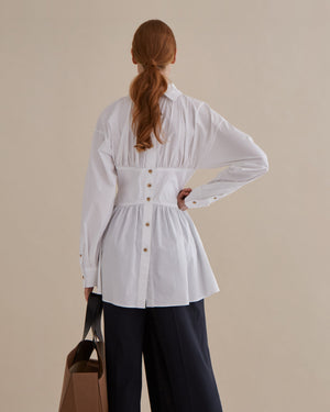 Vera Blouse Cotton Poplin Off-White