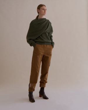 Leon Trousers Cotton Twill Camel