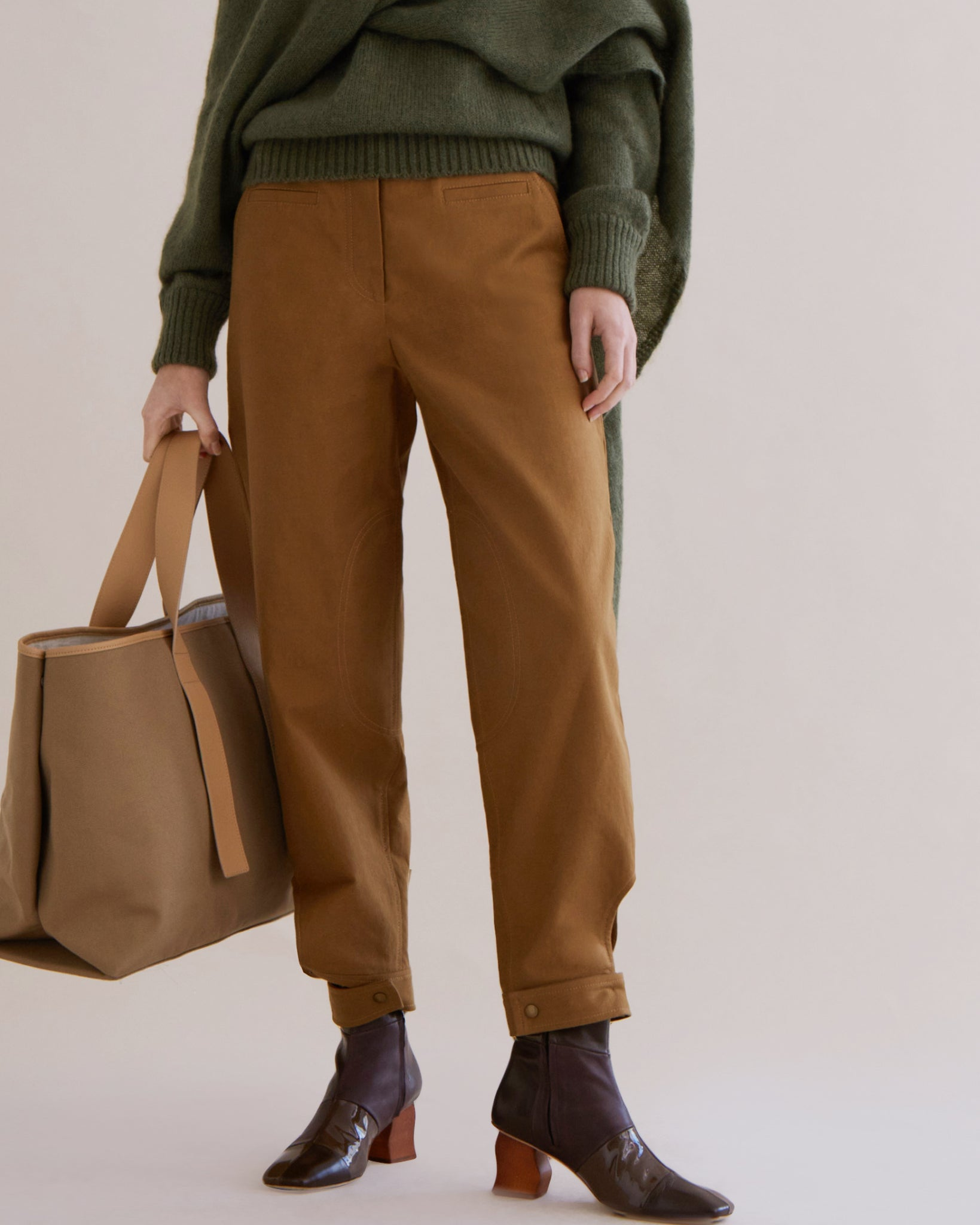 Leon Trousers Cotton Twill Camel - SPECIAL PRICE