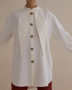 Andrea Shirt Japanese Crepe Off-White