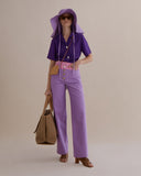 Valerie Jeans Cotton Denim Ombre Lavender