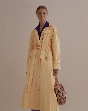 Ava Trench Tyvek Butter Yellow - SPECIAL PRICE