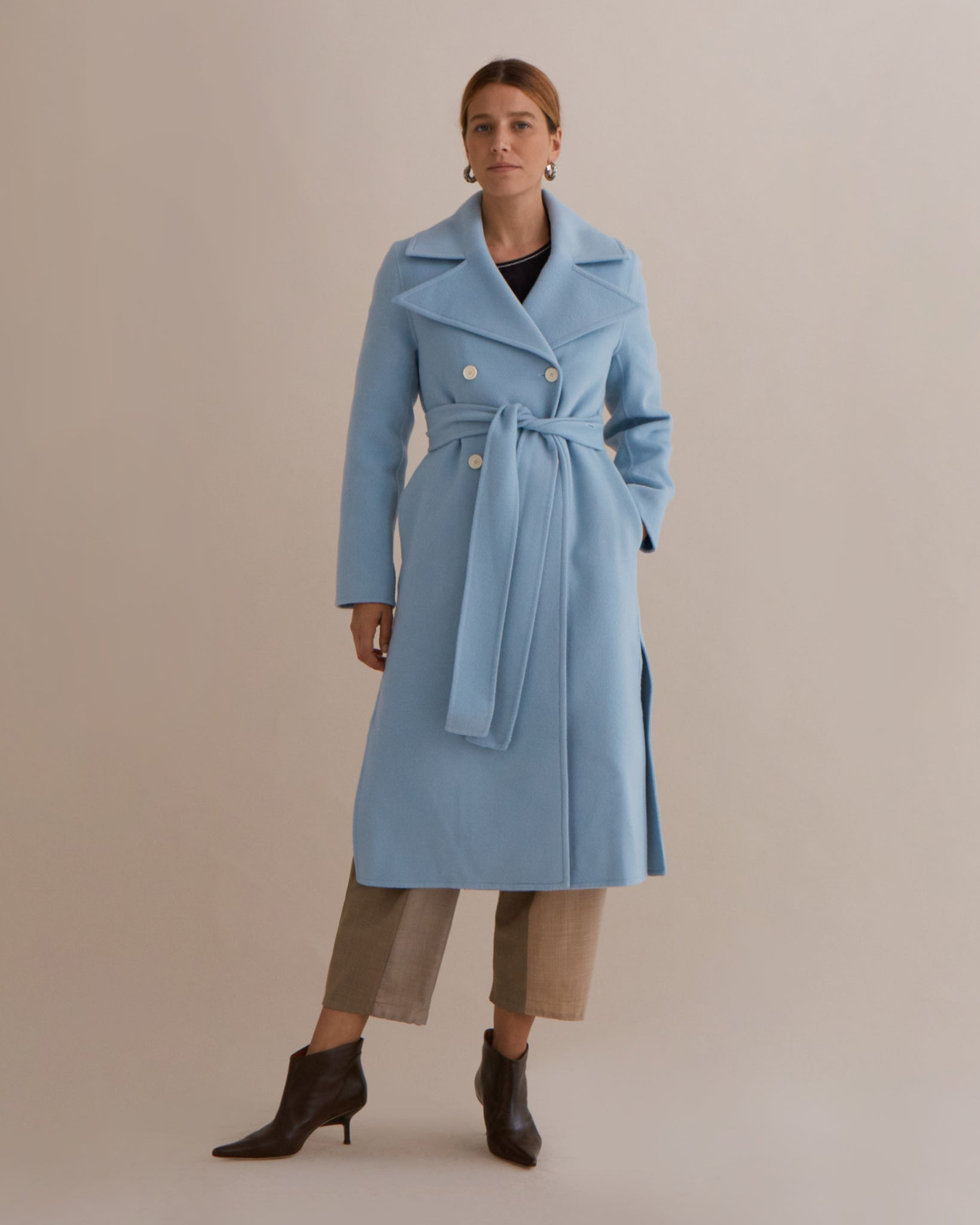Simone Coat Wool Blue - SPECIAL PRICE