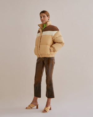 Otis Jacket Cotton Nylon Blend Brown Mix