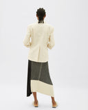 Yuki Skirt Cotton Rib Black + White