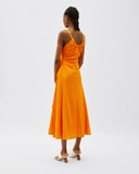 Toni Dress Hammered Silk Orange
