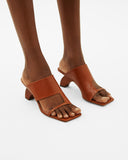 Leah Sandals Leather Brown