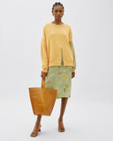 Charlie Sweater Cotton Sweatshirt Yellow Mix