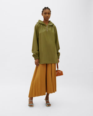Taylor Hoodie Faux Leather Sage Green